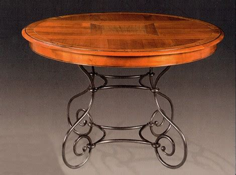 table ronde bois et fer forge table ronde pieds fer forg 233 louisiane vazard
