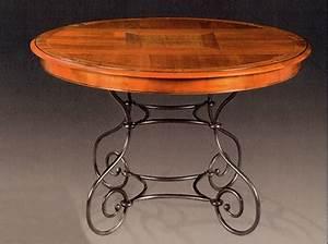Table Fer Forgé Ronde : table ronde pieds fer forg louisiane vazard ~ Teatrodelosmanantiales.com Idées de Décoration