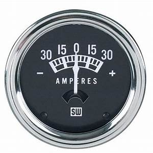 Stewart Warner 82200 Standard Ammeter Gauge 16 Inch