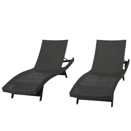 grey chaise lounge chair noble house outdoor grey wicker chaise lounge chairs set