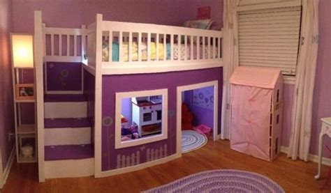 girls playhouse loft bed    home projects