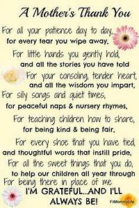 A Mothers Thank You Teacher Appreciation Digital Print