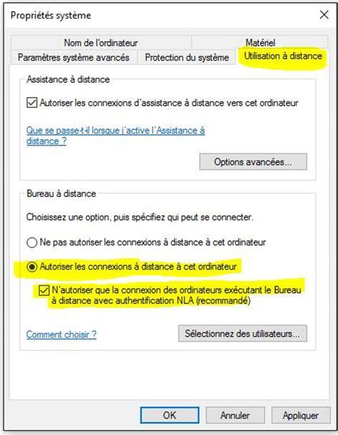 autoriser bureau a distance s o s windows bureau 224 distance prendre la 224 distance