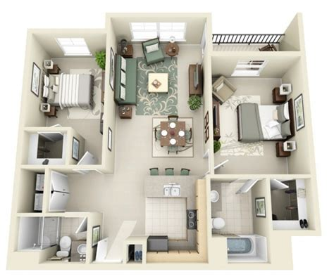 appartement 2 chambres idee plan3d appartement 2chambres 28