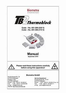 Tb2 Thermoblock User Manual  English