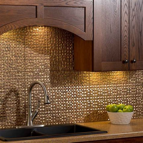 copper backsplash tiles for kitchen kitchen dining metal frenzy in kitchen copper