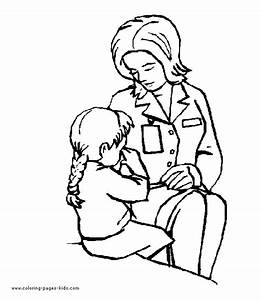 Doctors & Hospital color page - Coloring pages for kids ...
