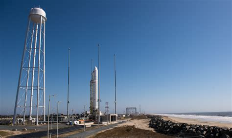 File:First Antares rocket on Launch Pad 0A of the Wallops ...