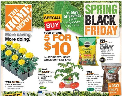 Home Depot Spring Black Friday Sale