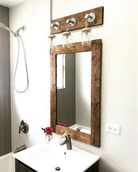Modern Bathroom Fixture Sets by Rustic Distressed Bathroom Set Mirror And Vanity Light