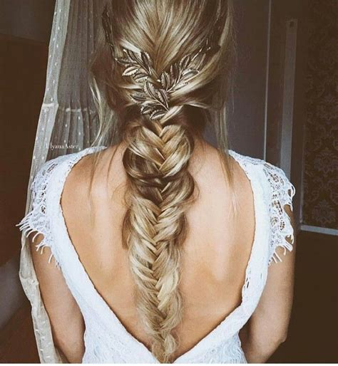 25 best ideas about fishtail braid wedding on pinterest