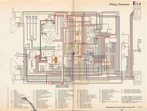 69 Vw Type 3 Fuse Box by Thesamba Type 3 Wiring Diagrams
