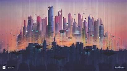 4k Future Cityscape Wallpapers Desktop Ultra Gog