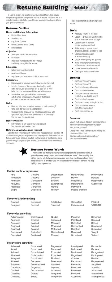 tips for building your resume infographic check out today s resume building tips