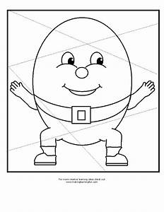 free coloring pages of humpty dumpty shapes With humpty dumpty puzzle template