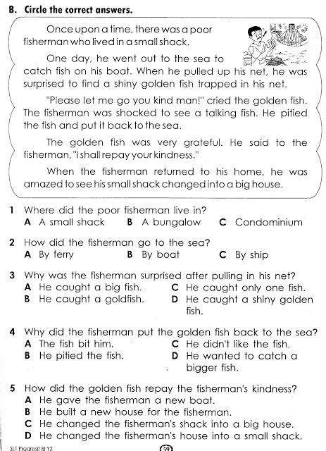 exercise reading comprehension worksheets reading