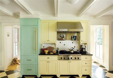 Colored Kitchen Cabinets by 12 Kitchen Cabinet Color Combos That Really Cook This