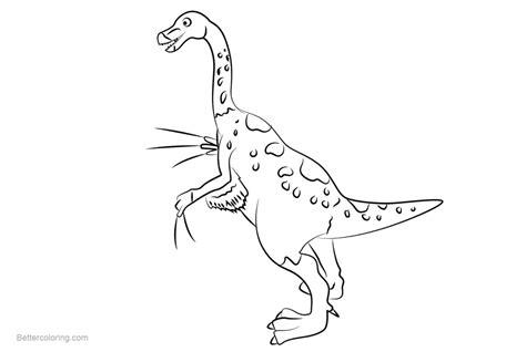 Dinosaur Train Coloring Pages Mr Therizinosaurus