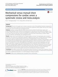 Pdf  Mechanical Versus Manual Chest Compressions For