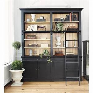 Bibliothèque Noire Ikea : biblioth que avec chelle en pin massif noir biblioth que avec chelle chelles en bois et ~ Teatrodelosmanantiales.com Idées de Décoration