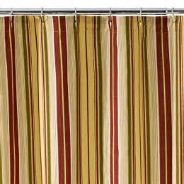 designer striped retro shower curtains in vinyl