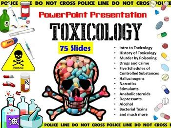 toxicology powerpoint  forensic science tpt
