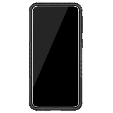 Anti-Slip Samsung Galaxy A40 Hybrid Case with Stand