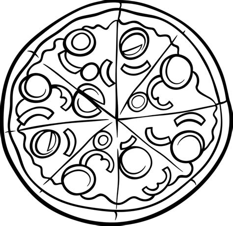 pizza coloring pages pictures  pin  pinterest pinsdaddy