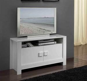 Meuble Tv Blanc Laqué : meuble tv haut laque ~ Teatrodelosmanantiales.com Idées de Décoration