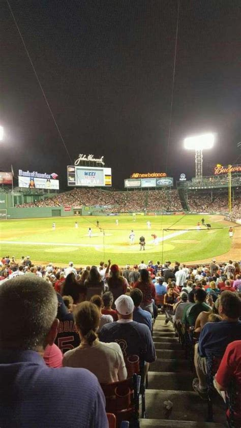fenway park section loge box  home  boston red sox