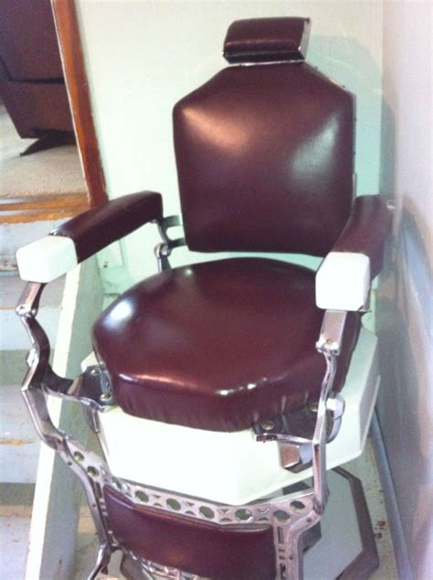 Koken Barber Chair Identification by Koken Octagon Shape Barber Chair