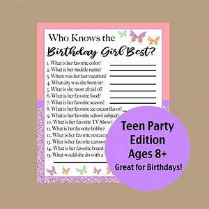 who, knows, the, birthday, girl, best, game, teen, birthday, games