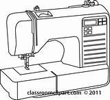 Sewing Machine Outline Clipart Clip Machines Drawing Coloring Needle Outlines Google Illustrations Sketch Thread Template Graphics Graphic Transparent sketch template