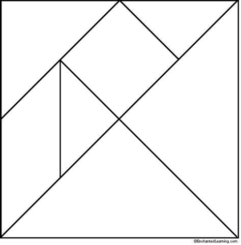 tangram template pattern printable tangram template