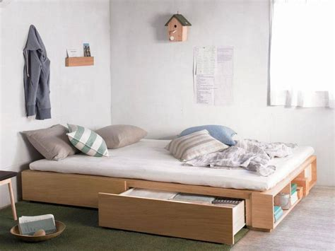 twin xl bed frame  storage ideas give