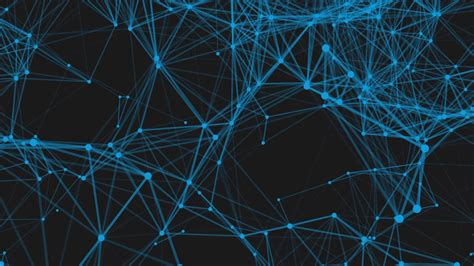 technology network loop background blue animated lines