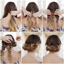 braided hair headband creative ideas diy easy braided updo hairstyle