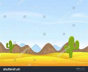 Desert Landscape Background Illustration Cartoon Desert ...