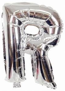 16quot foil mylar balloon silver letter r With foil letter balloons silver
