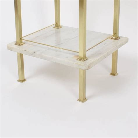 Brass Nightstands by Pair Of Brass And Marble Nightstands At 1stdibs