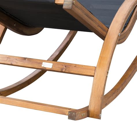 chaise rocking chair outdoor patio chaise lounge recliner rocking chair wooden