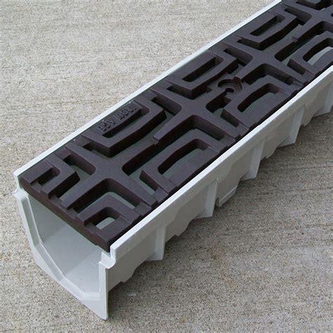 driveway drain 5 mearin 100 driveway drainage kit w cast iron grates carbochon drainagekits com