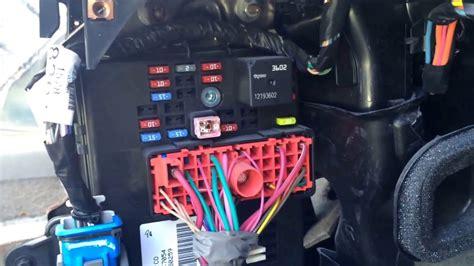 chevy cobalt interior fuse box wiring data