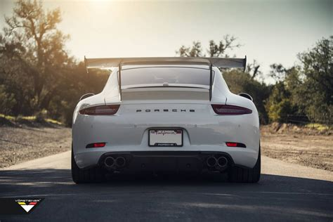 Porsche 911 With Vorsteiners Adjustable V Gtx Rear Wing