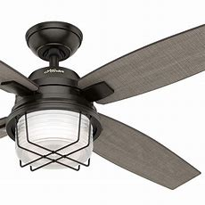 "52"" Hunter Outdoor Ceiling Fan, Noble Bronze  Light Kit"
