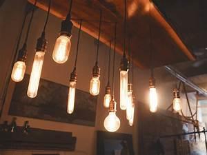 Free, Images, Restaurant, Old, Ceiling, Bulb, Glow, Hanging, Lighting, Interior, Design, Light