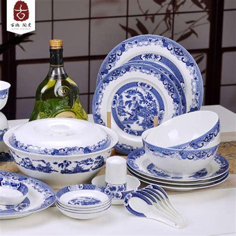 1640 blue and white dish sets 56 ceramic bone china dinnerware set blue and white glaze