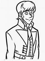 Coloring Frozen Hans Prince Face Handsome Disney Popular Drawing Bad Boy Sheets sketch template