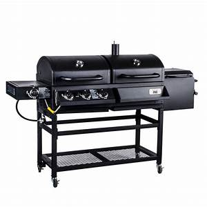 Backyard, Pro, Portable, Outdoor, Gas, And, Charcoal, Grill, Smoker
