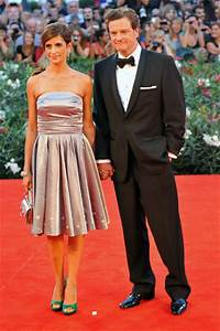 Colin Firth attends the Venice Film Festival with his wife ...